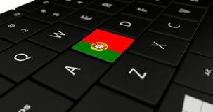 Chiuda su del bottone del Portogallo Fotografia Stock