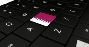 Chiuda su del bottone del Qatar Fotografia Stock Libera da Diritti