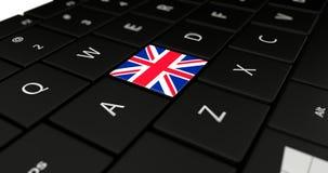 Chiuda su del bottone del Regno Unito Fotografia Stock