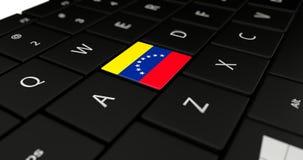 Chiuda su del bottone del Venezuela Fotografia Stock Libera da Diritti
