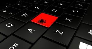 Chiuda su del bottone dell'Albania Fotografia Stock