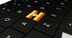 Chiuda su del bottone dell'Uganda Immagini Stock Libere da Diritti