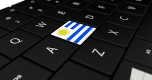 Chiuda su del bottone dell'Uruguay Fotografia Stock Libera da Diritti