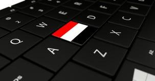 Chiuda su del bottone dell'Yemen Immagini Stock Libere da Diritti