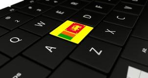 Chiuda su del bottone dello Sri Lanka Fotografie Stock Libere da Diritti