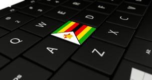 Chiuda su del bottone dello Zimbabwe Fotografia Stock Libera da Diritti