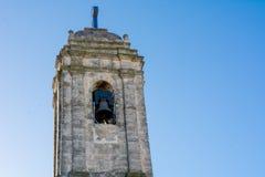 Chiuda su del campanile della chiesa degli ss Maria Immacolata Fotografia Stock