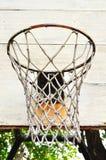 Chiuda su del cerchio di pallacanestro Fotografia Stock