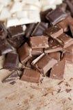 Chiuda in su del cioccolato handmade di alta qualità Immagini Stock