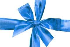 Chiuda in su del contenitore di regalo blu Fotografia Stock