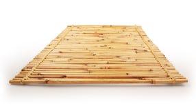Chiuda su del fondo di bambù della stuoia con il volume del percorso di ritaglio - 1 Fotografia Stock Libera da Diritti