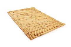Chiuda su del fondo di bambù della stuoia con il volume del percorso di ritaglio - 3 Fotografia Stock Libera da Diritti