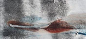 Chiuda su del fondo grigio graffiato approssimativo grungy del metallo Fotografie Stock Libere da Diritti