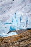 Chiuda su del ghiacciaio Svartisen in Norvegia Immagine Stock Libera da Diritti