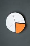 Chiuda su del grafico di affari Fotografia Stock