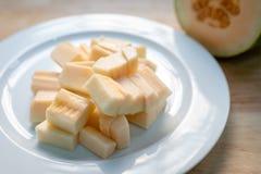 Chiuda su del melone del cantalupo immagine stock libera da diritti