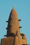 Chiuda in su del minareto della moschea di Djenne Fotografie Stock Libere da Diritti