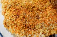 Chiuda su del msg del condimento sul pollo piccante Immagini Stock Libere da Diritti