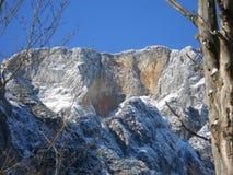 Chiuda su del picco di montagna Untersberg, le alpi, Baviera Fotografia Stock