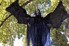Chiuda su del pipistrello con il fronte di scheletro Fotografia Stock Libera da Diritti