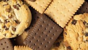 Chiuda su del preparato dei biscotti archivi video