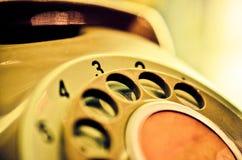Chiuda su del quadrante d'annata del telefono Fotografia Stock Libera da Diritti