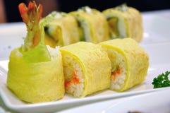 Chiuda su del rotolo di sushi Immagine Stock