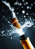 Chiuda su del sughero del champagne Immagini Stock