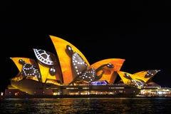 Chiuda in su del Teatro dell'Opera di Sydney Immagini Stock