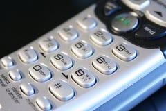 Chiuda in su del telefono senza cordone Fotografia Stock