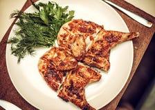 Chiuda su del tupac fritto arrostito del pollo arrosto immagini stock libere da diritti
