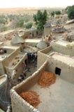 Chiuda in su del villaggio tradizionale di Dogon Immagini Stock