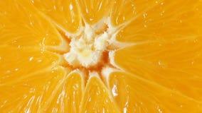 Chiuda su dell'arancia girante