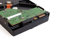 Chiuda su dell'hardware interno del meccanismo del disco rigido Fotografie Stock Libere da Diritti