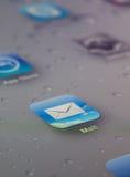 Chiuda su dell'icona della posta Fotografia Stock