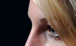 Chiuda su dell'occhio del ` s della donna Fotografie Stock Libere da Diritti