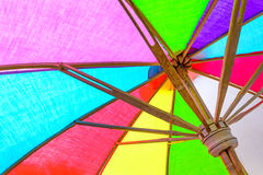 Chiuda su dell'ombrello interno fotografie stock