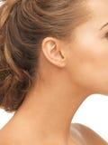Chiuda su dell'orecchio della donna Fotografia Stock Libera da Diritti