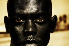 Chiuda in su dell'uomo africano Immagini Stock