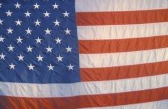 Chiuda in su della bandiera americana Fotografia Stock