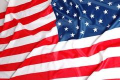 Chiuda in su della bandiera americana Fotografie Stock