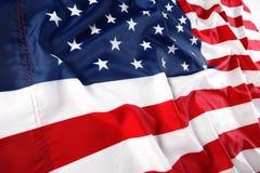 Chiuda in su della bandiera americana Immagini Stock