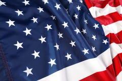 Chiuda in su della bandiera americana Fotografia Stock Libera da Diritti
