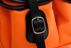 Chiuda su della borsa del fermaglio Fotografia Stock