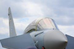 Chiuda in su della cabina di guida del combattente di jet Fotografia Stock Libera da Diritti