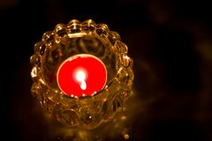 Chiuda su della candela bruciante del colpo Fotografia Stock