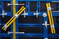 Chiuda su della cassaforma della costruzione del metallo Immagine Stock