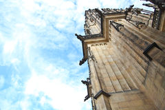 Chiuda su della cattedrale della st Vitus Immagini Stock