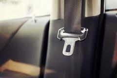 Chiuda su della cintura di sicurezza nell'automobile Fotografia Stock Libera da Diritti