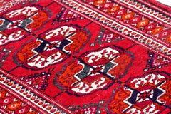 Chiuda in su della coperta del tekin di Turkmenian Immagine Stock Libera da Diritti